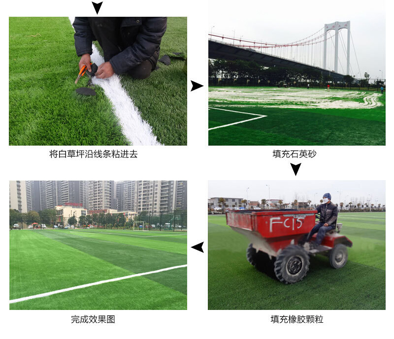 人造草足球场施工流程